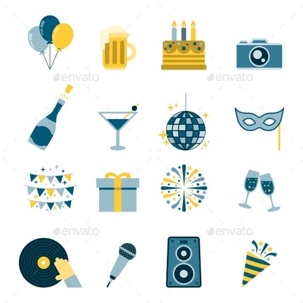 Celebration Icons Flat - Icons