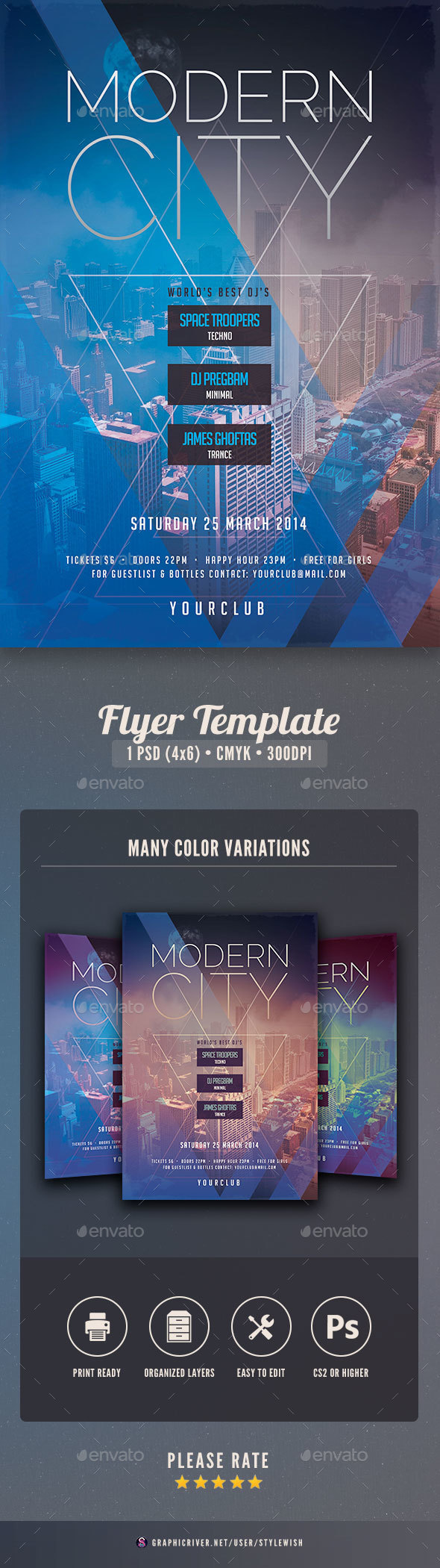 Modern City Flyer - Clubs & Parties Events