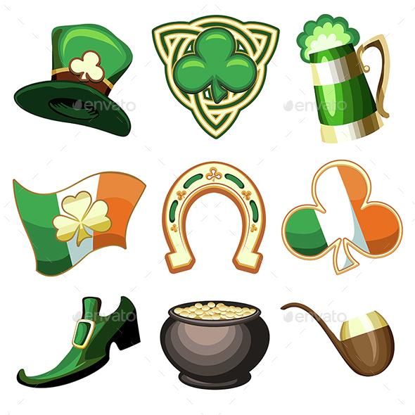 Saint Patrick's Day Emblem Set - Seasons/Holidays Conceptual