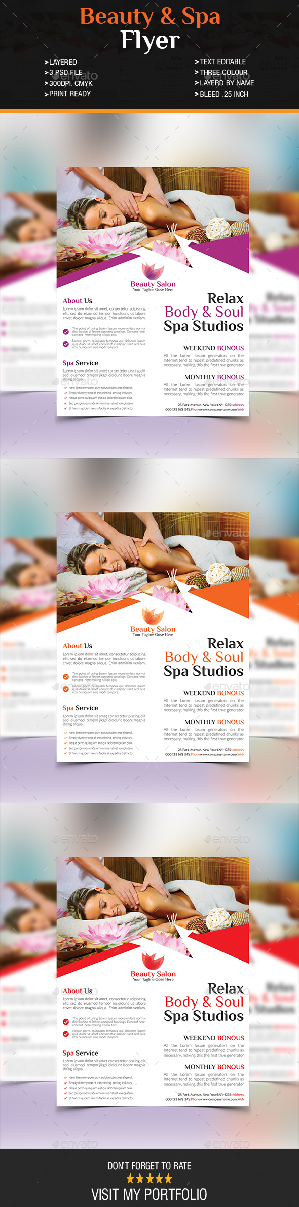 Beauty & Spa Flyer - Stationery Print Templates