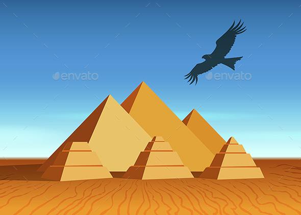 Pyramid landscape - Travel Conceptual
