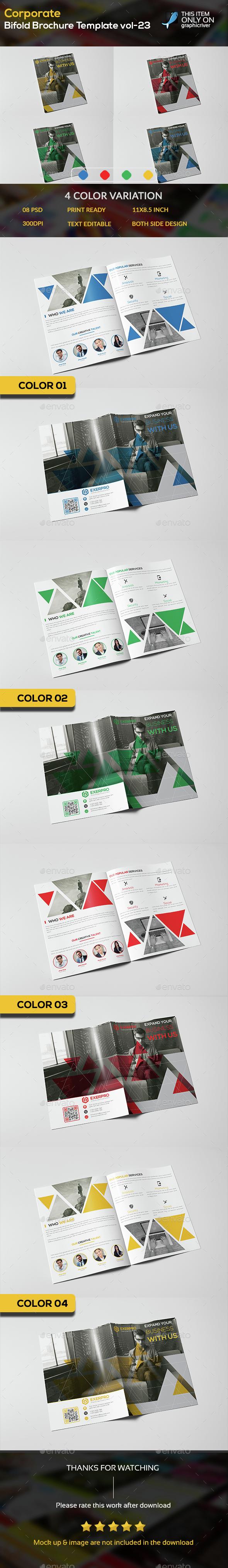 Corporate Bifold Brochure template vol-23 - Brochures Print Templates