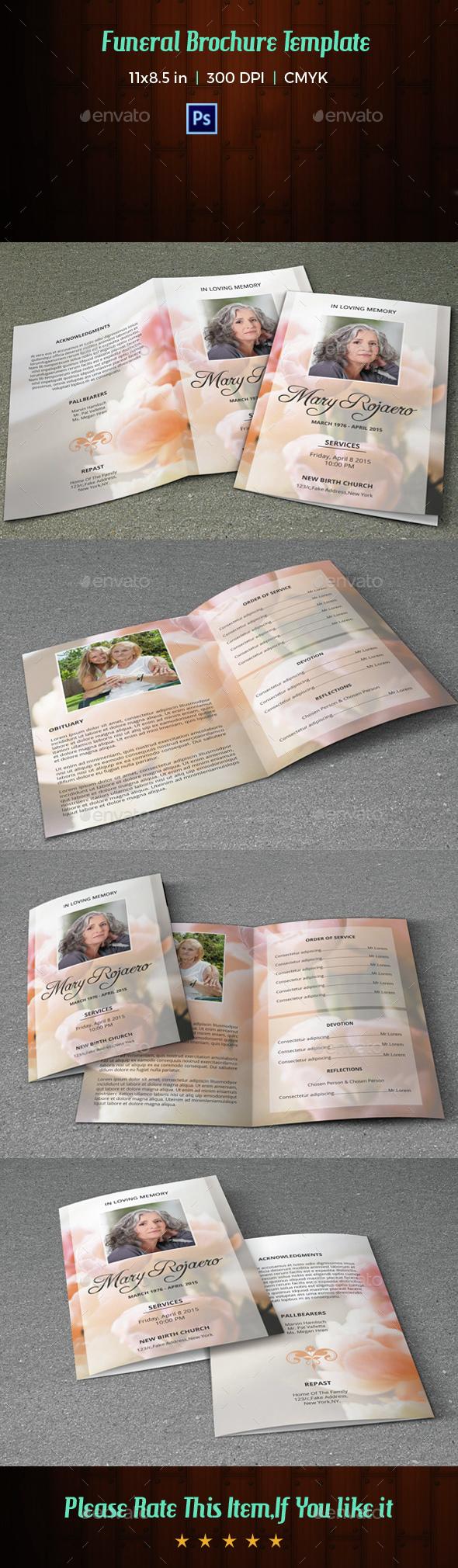 Funeral Program Template-V07 - Informational Brochures