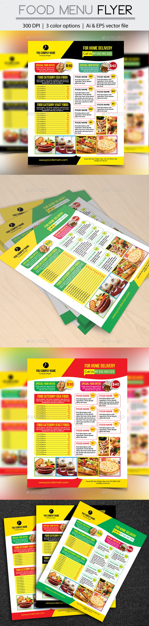 Food Menu Flyer - Restaurant Flyers