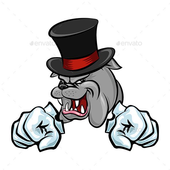 Angry Bulldog Mascot - Animals Characters
