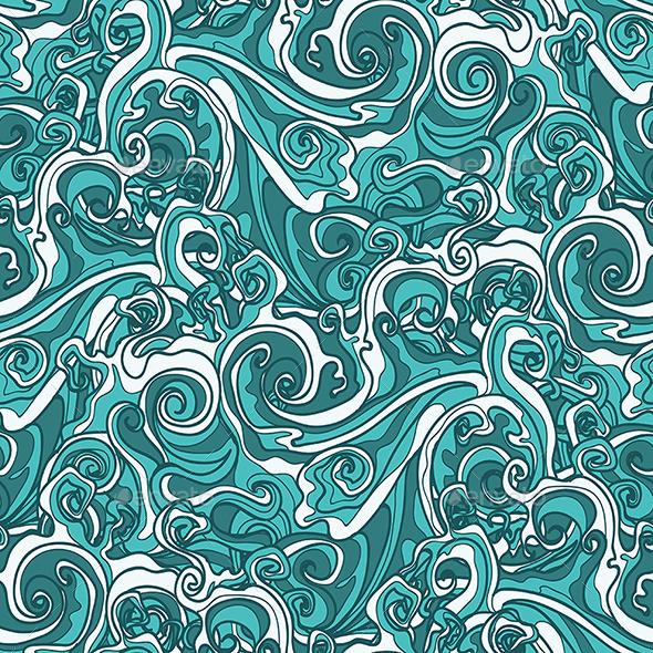 Wavy Seamless Pattern - Patterns Decorative
