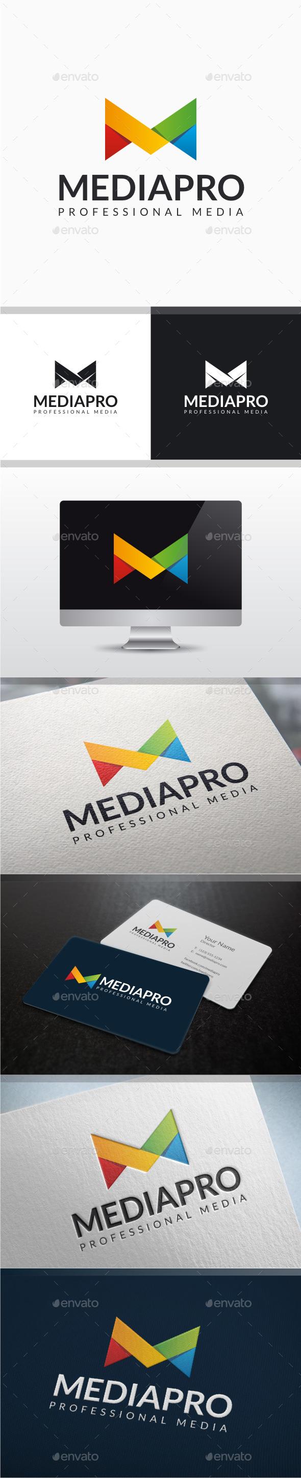Media Pro - Letter M Logo - Letters Logo Templates