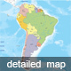 Detailed Map of South America - GraphicRiver Item for Sale