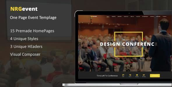 NRGevent – Conference & Event WordPress Theme