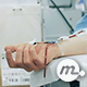 Nurse Cuts The Tube After Giving Blood Donation - VideoHive Item for Sale