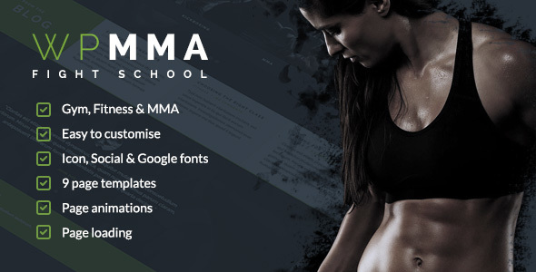 WP MMA – Gym & Fitness HTML Template