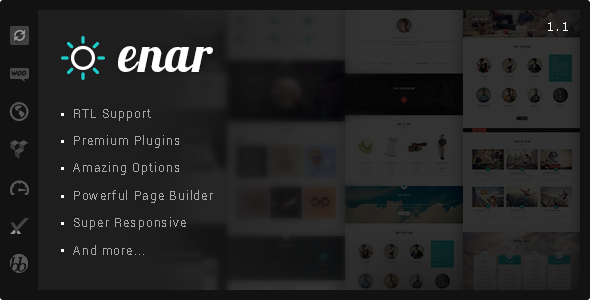 Enar – Responsive Multi-Purpose WordPress Theme