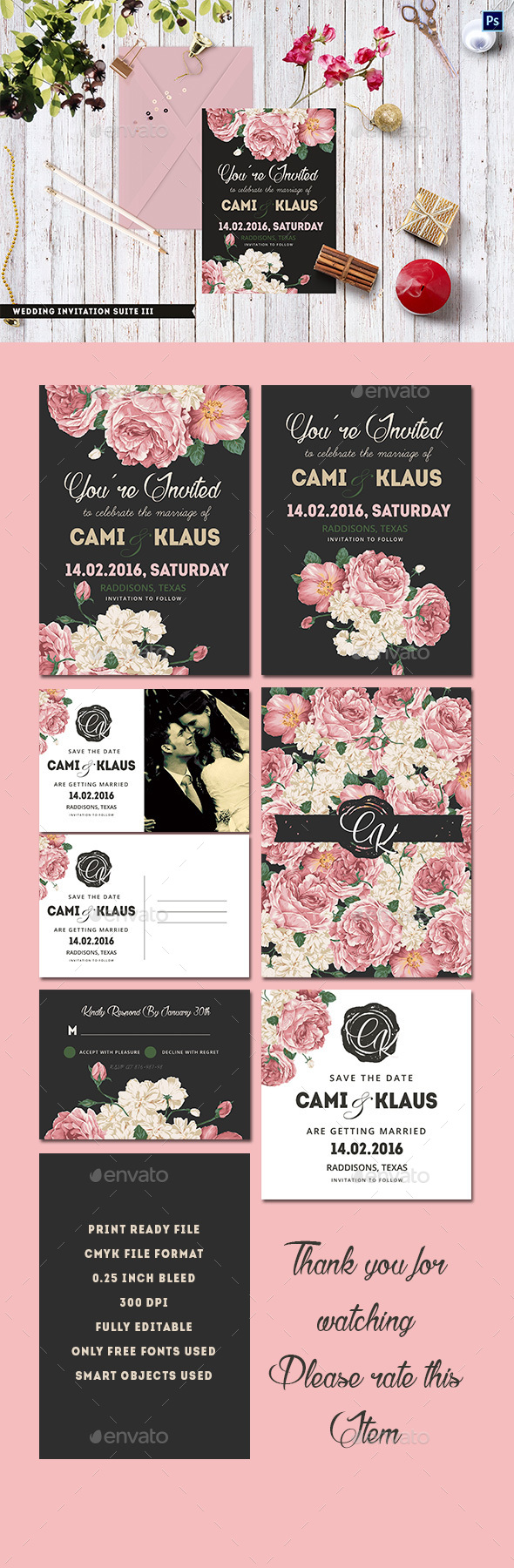 Wedding Invitation Suite III - Weddings Cards & Invites