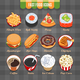 Fast Food Vector Isometric Icons Set - GraphicRiver Item for Sale