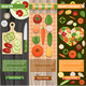 Colorful Fresh Vegetables Banners Set - GraphicRiver Item for Sale