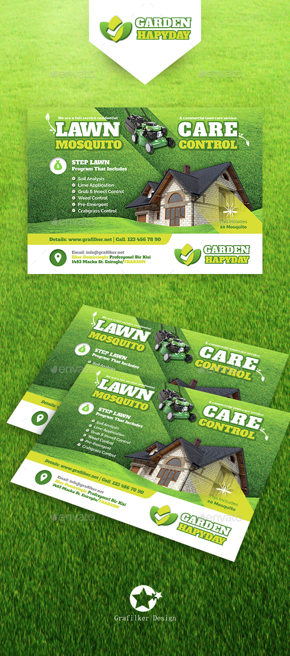 Garden Landscape Flyer Templates By Grafilker | GraphicRiver