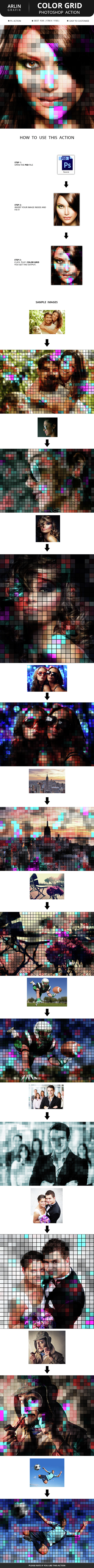 Color Grid Action - Photo Effects Actions