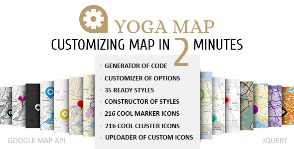 Yoga Map - Customizing and Generation of Styles, Markers and other of Google Map Options. - CodeCanyon Item for Sale