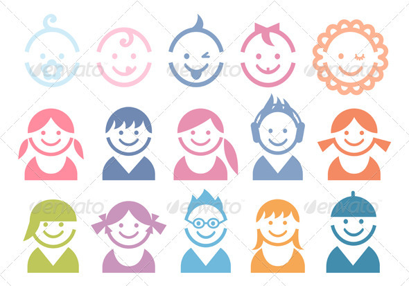 Baby And Children Faces - People Characters
