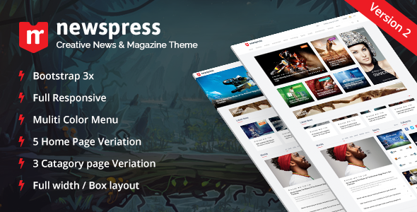 NewsPress - Bootstrap News / Magazine Template - Entertainment Site Templates