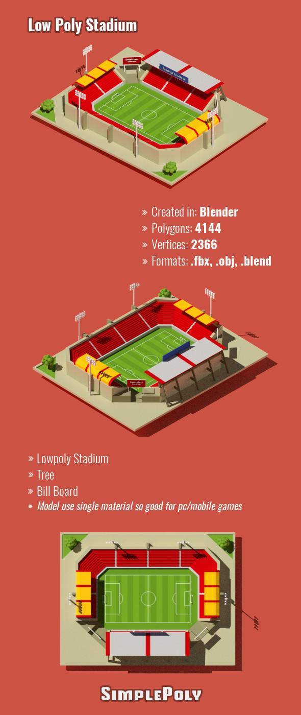 Low Poly Stadium - 3DOcean Item for Sale