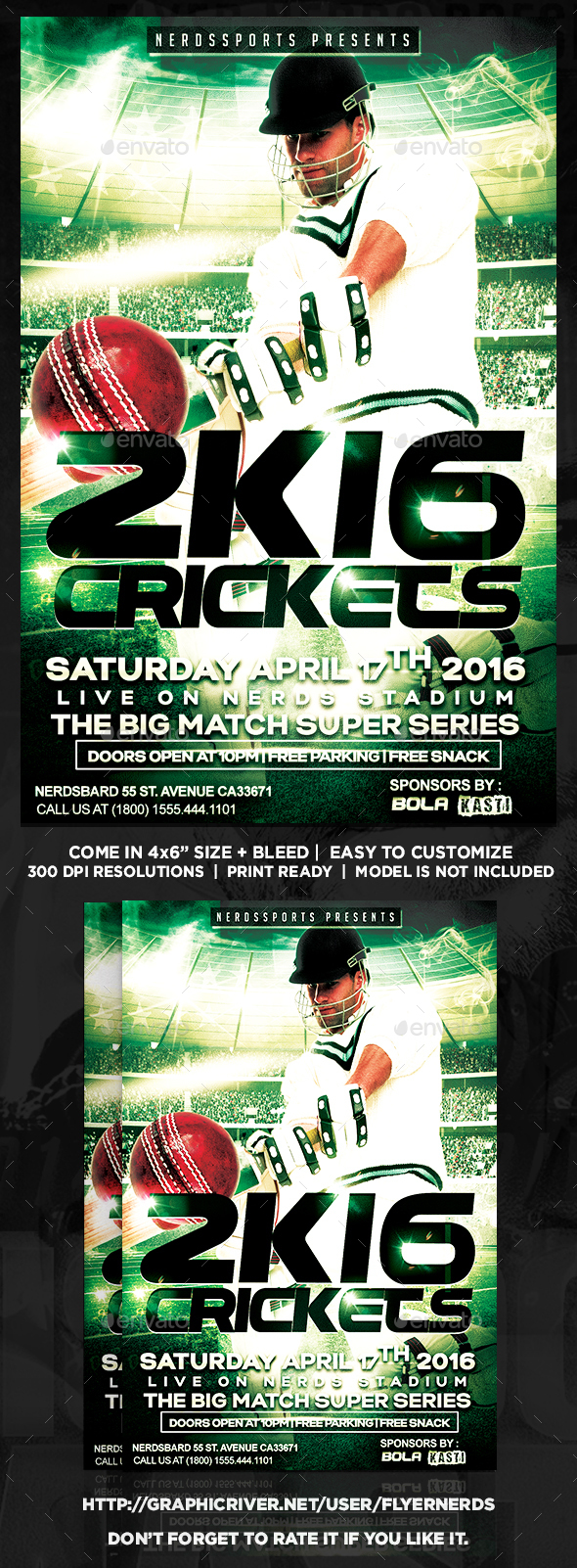 Crickets 2K16 Championships Sports Flyer - Sports Events
