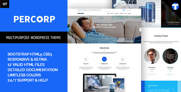 PerCorp – Multi-Purpose WordPress Theme