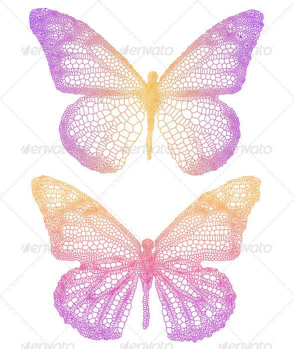 Vector Butterflies  - Animals Characters