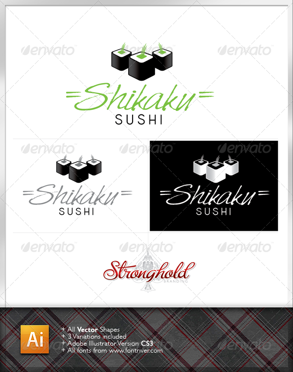 Sushi Company Logo - Food Logo Templates
