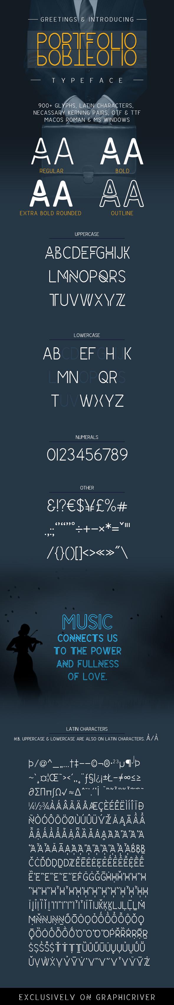 Portfolio - Monospaced Sans-Serif
