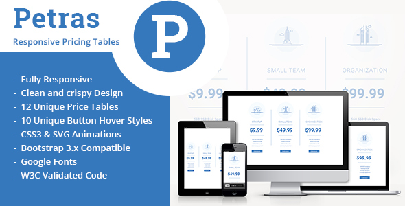 Petras-Responsive Price Tables - CodeCanyon Item for Sale
