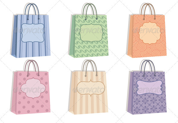 Shopping Bags With Pattern - Commercial / Shopping Conceptual