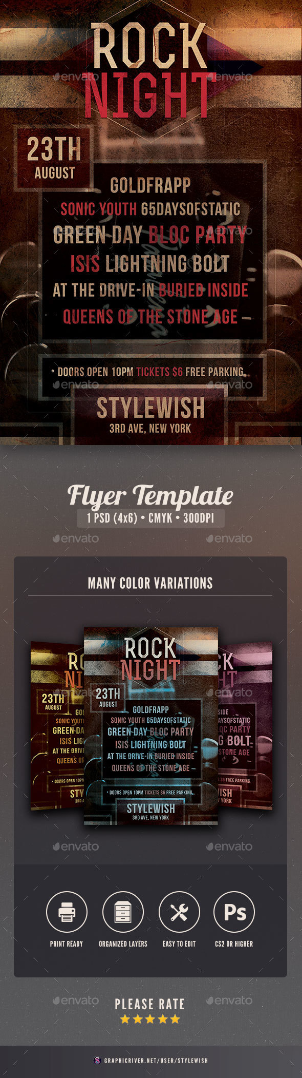 Rock Night Flyer - Concerts Events