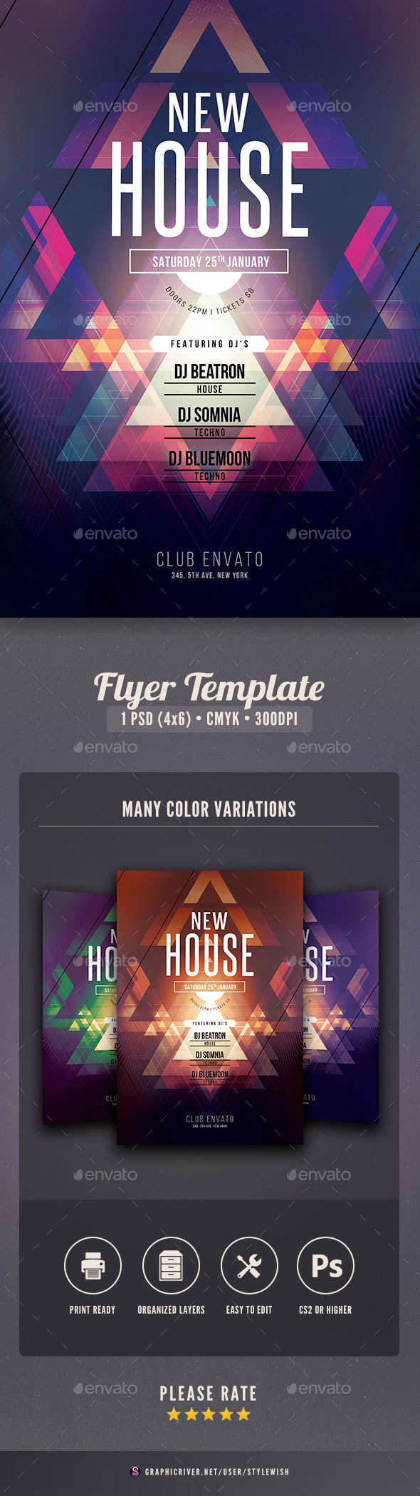 New House Flyer - Clubs & Parties Events