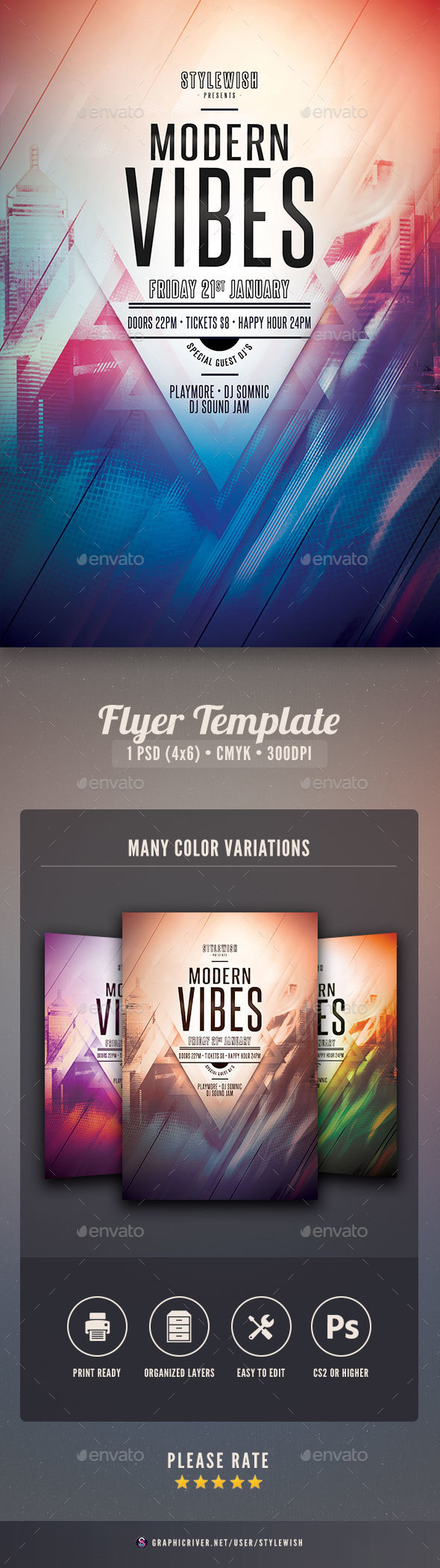Modern Vibes Flyer - Clubs & Parties Events