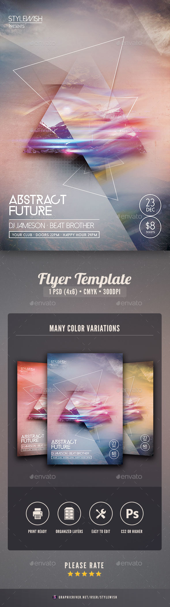Abstract Future Flyer - Clubs & Parties Events