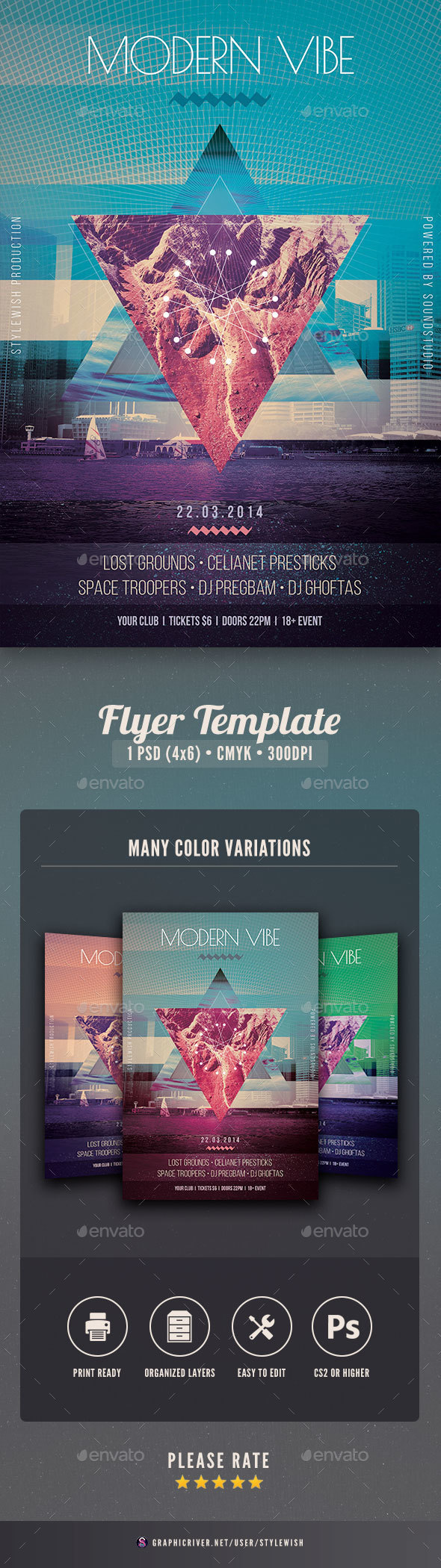Modern Vibe Flyer - Clubs & Parties Events