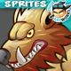 Monster Wolves 2D Game Character Sprites 182 - GraphicRiver Item for Sale
