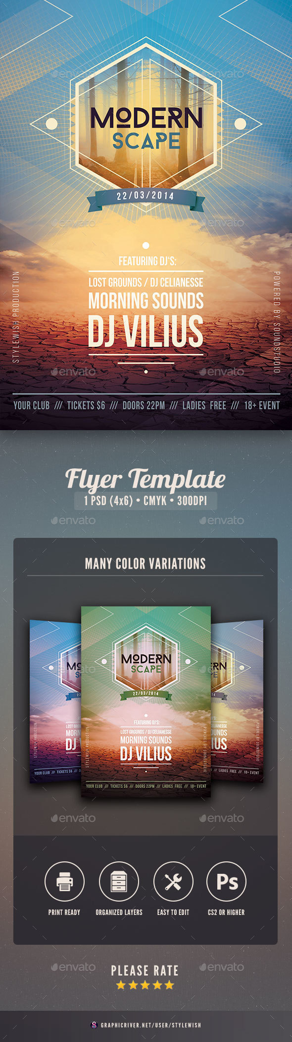 Modern Scape Flyer - Clubs & Parties Events