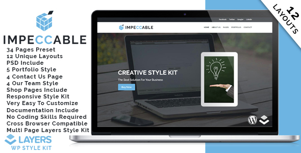 Layers WP Style Kit - Impeccable - CodeCanyon Item for Sale