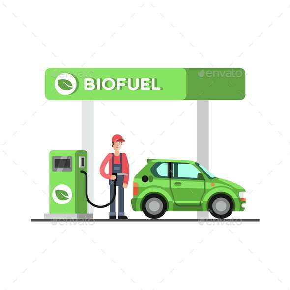 Biofuel Eco Fuel Petrol Station Green Energy - Industries Business