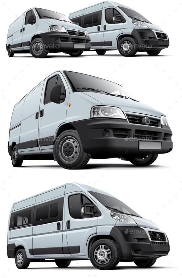 Two Vans - Objects Vectors