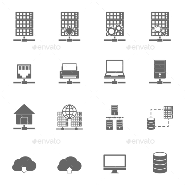 Server Hosting Icons - Technology Icons