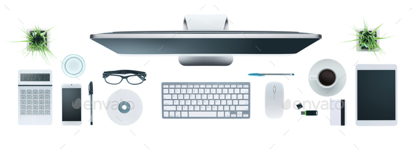 Hi-tech business desktop - Stock Photo - Images
