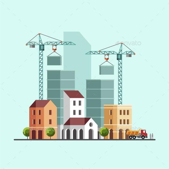 Construction Site Under Construction Building Business Construction Industry - Industries Business