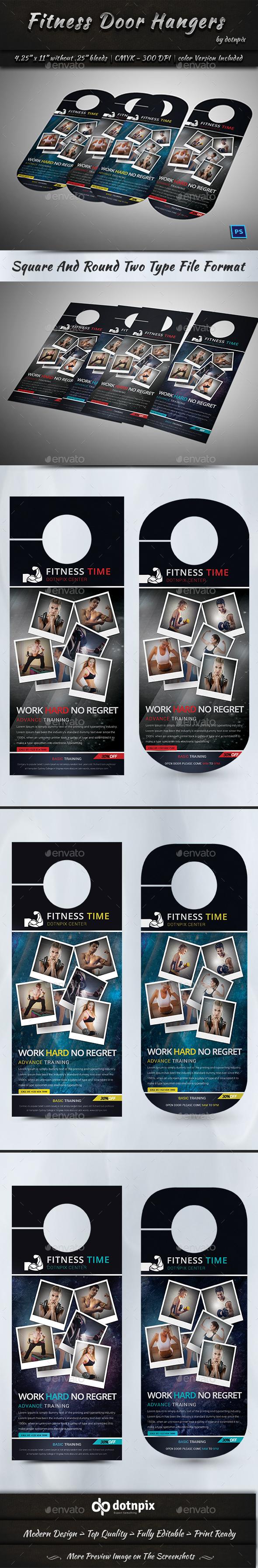 Fitness Door Hangers - Miscellaneous Print Templates