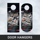 Fitness Door Hangers - GraphicRiver Item for Sale