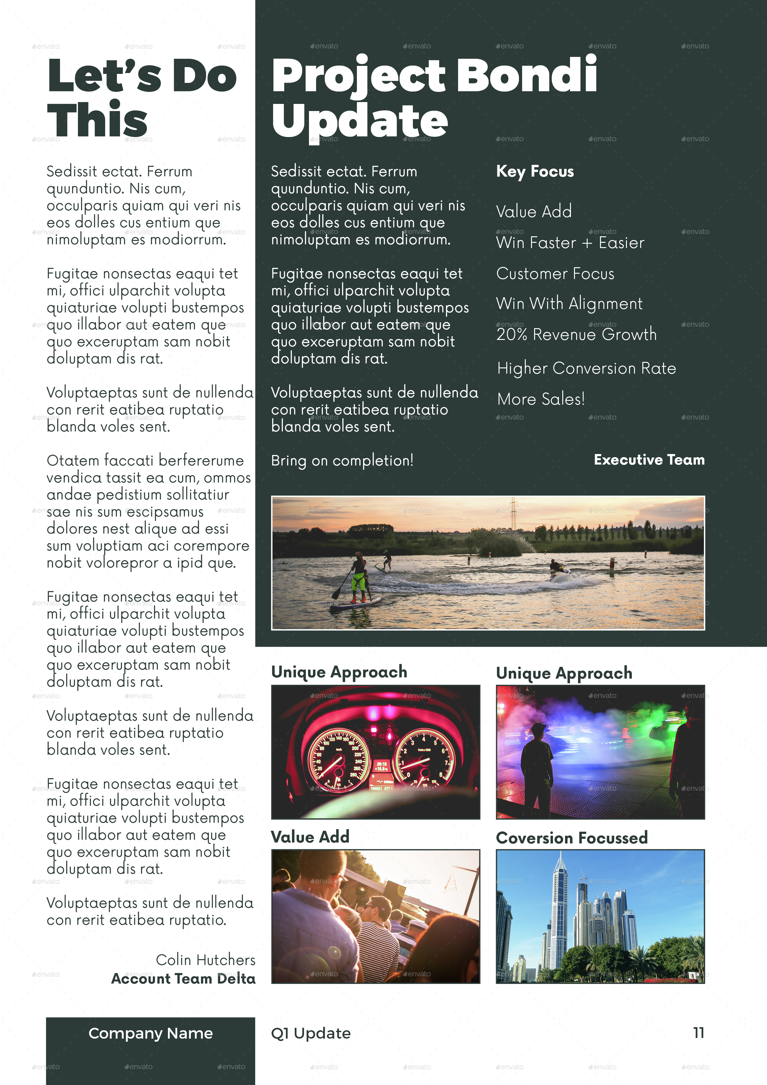 project newsletter template
