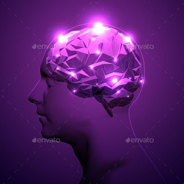 Concept Of Active Human Brain  - Health/Medicine Conceptual
