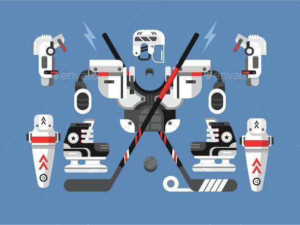 Hockey Equipment Set - Sports/Activity Conceptual